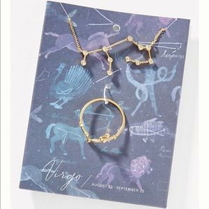 Anthropologie celestial sign ring and necklace set